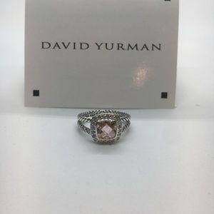 David Yurman Morganite Petite Albion RIng Size 9
